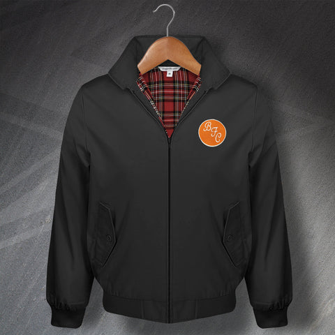 Retro Blackpool Classic Harrington Jacket with Embroidered Badge