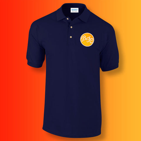 Retro Blackpool Polo Shirt with Embroidered Badge