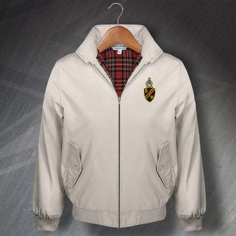 Retro Bolton Classic Harrington Jacket with Embroidered Badge