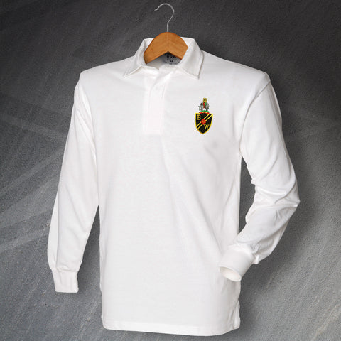 Retro Bolton Long Sleeve Shirt with Embroidered Badge