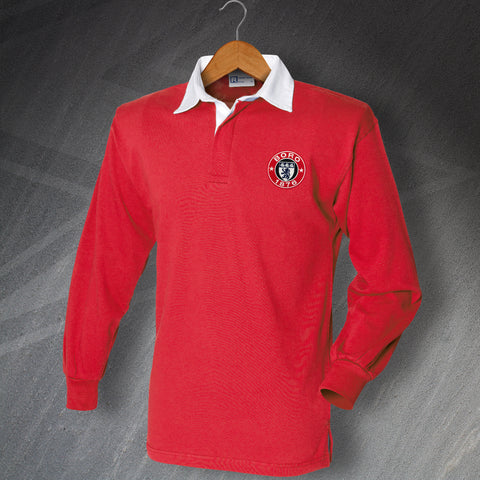 Retro Boro Long Sleeve Shirt with Embroidered 1876 Badge