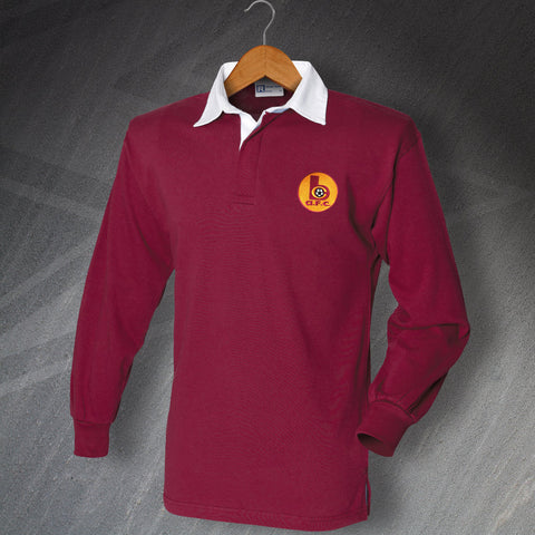 Retro Bradford Long Sleeve Football Shirt with Embroidered Badge
