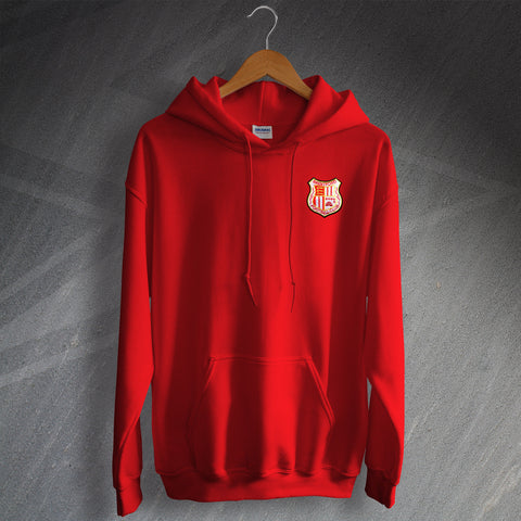Retro Brentford Hoodie with Embroidered Badge