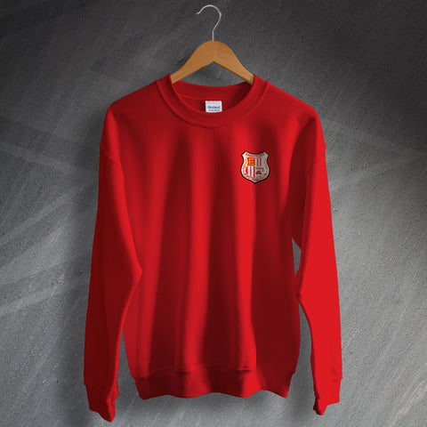Retro Brentford Sweater with Embroidered Badge