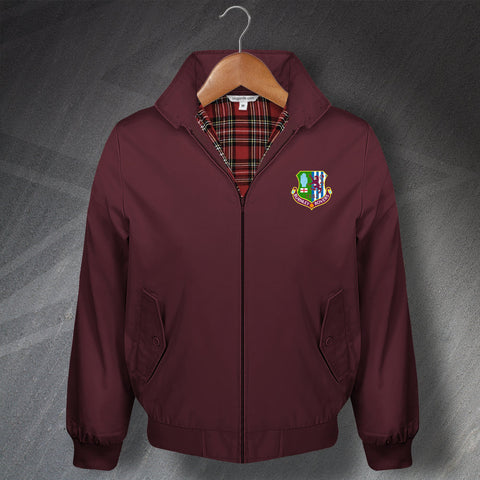 Retro Burnley Rovers Classic Harrington Jacket with Embroidered Badge