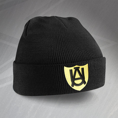 Retro Cambridge Beanie Hat with Embroidered Abbey United 1947 Badge