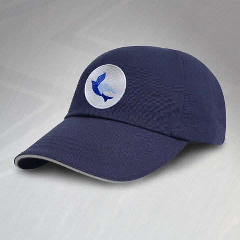 Retro Cardiff Baseball Cap with Embroidered Badge