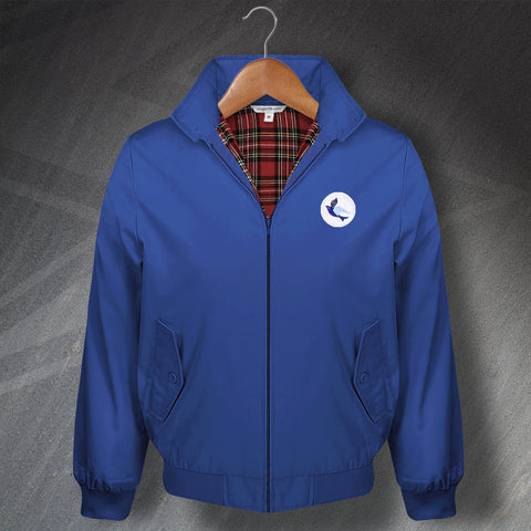 Retro Cardiff Classic Harrington Jacket with Embroidered Badge