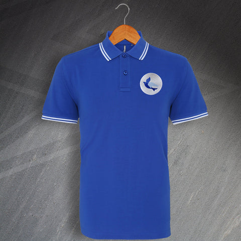 Cardiff Football Polo Shirt Embroidered Tipped 1969