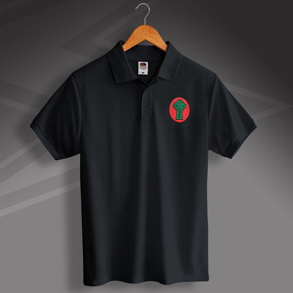 Retro celtic 1890 polo shirt with embroidered badge for Embroidered police polo shirts