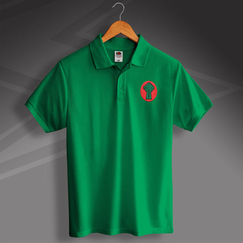 Retro Celtic 1890 Polo Shirt with Embroidered Badge