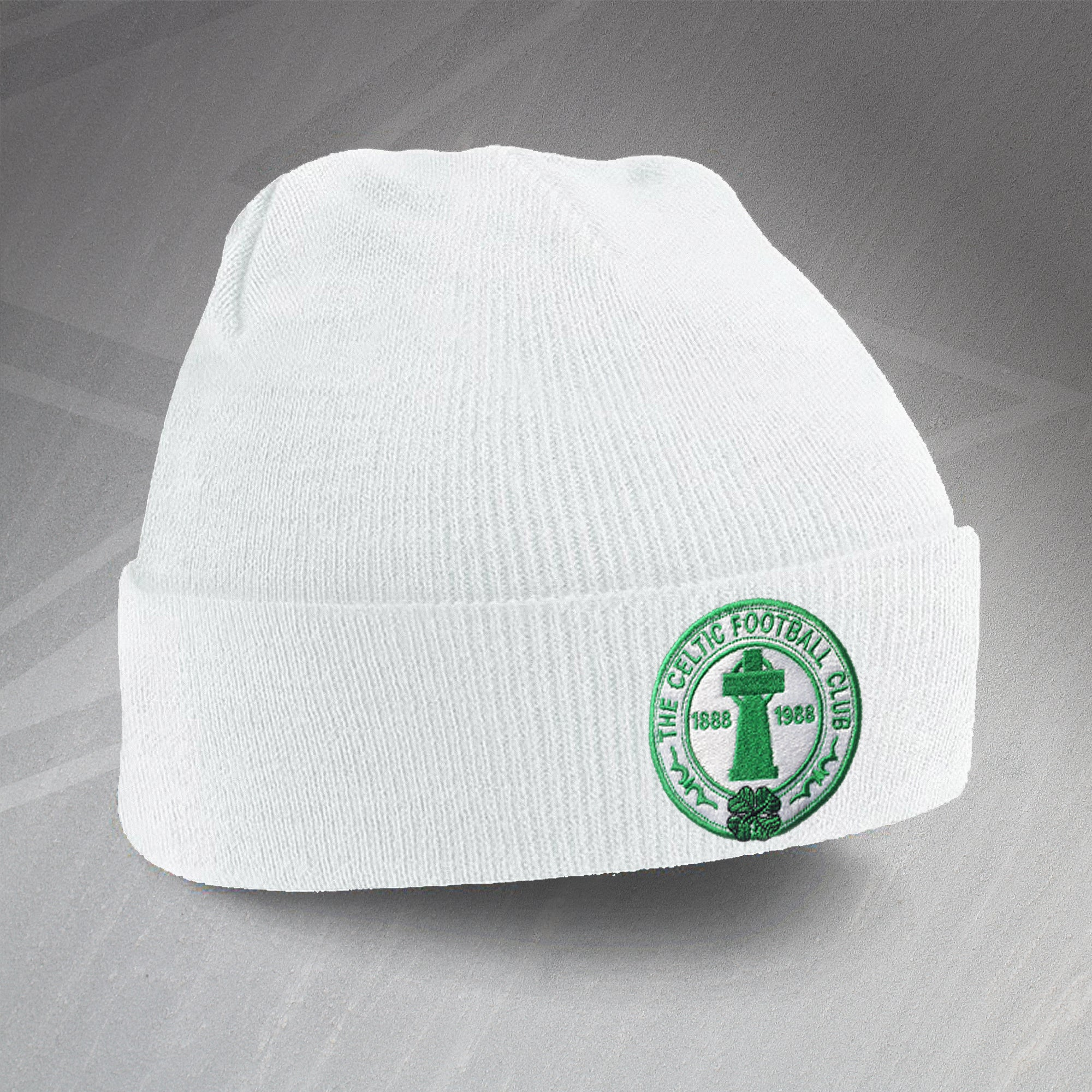 7a91dea9c3119 All Images and Content Copyright © Sloganite.com · Retro Celtic Centenary  Beanie Hat with Embroidered Badge