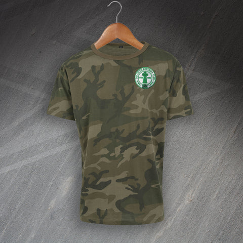 Celtic Football Camo T-Shirt Embroidered Centenary