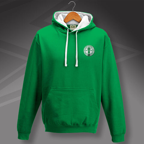 Retro Celtic Centenary Contrast Hoodie with Embroidered Badge