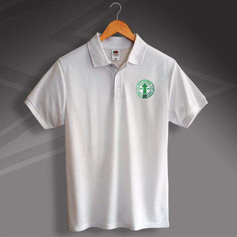 Retro Celtic Centenary Polo Shirt with Embroidered Badge