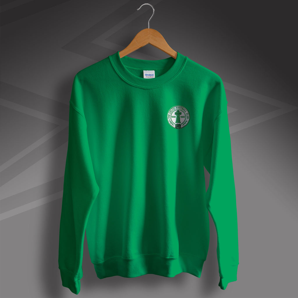Retro Celtic Centenary Sweater with Embroidered Badge