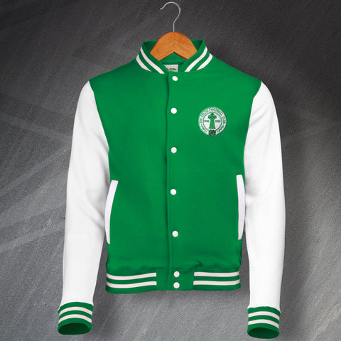 Celtic Retro Varsity Jacket with Embroidered Centenary Badge