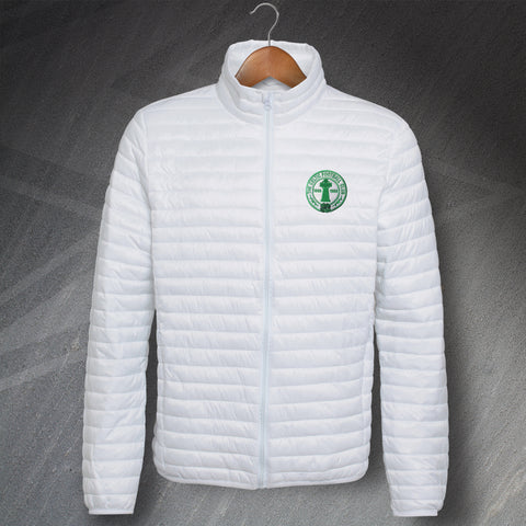Retro Celtic Fineline Padded Jacket with Embroidered Centenary Badge