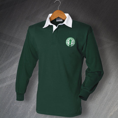Retro Celtic Long Sleeve Football Shirt with Embroidered Badge