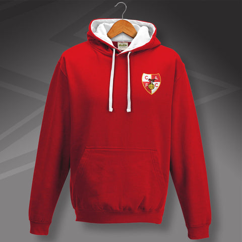 Charlton Football Hoodie Embroidered Contrast 1946