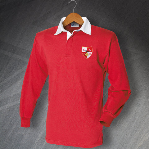 Charlton Football Shirt Embroidered Long Sleeve 1946