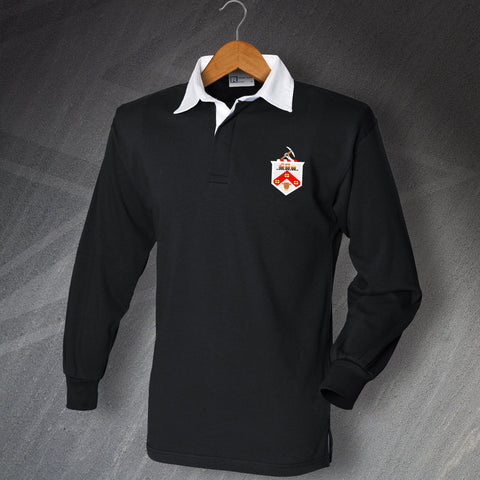Retro Darlington Long Sleeve Football Shirt with Embroidered Badge
