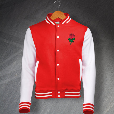 England Rugby Varsity Jacket Embroidered