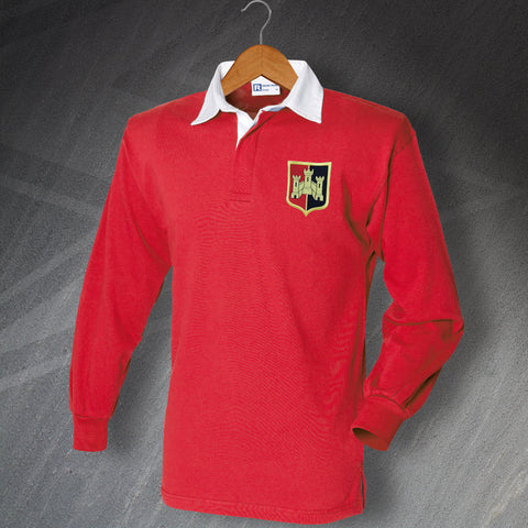 Exeter Football Shirt Embroidered Long Sleeve 1972