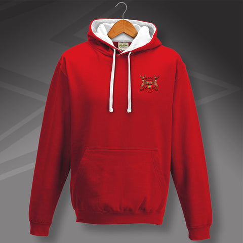 Forest Football Hoodie Embroidered Contrast 1970