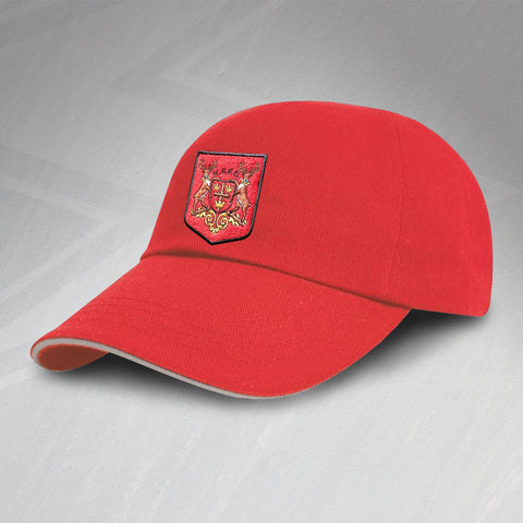 Retro Forest Baseball Cap with Embroidered Shield Badge