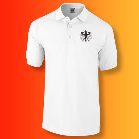 Retro Germany Polo Shirt with Embroidered Badge