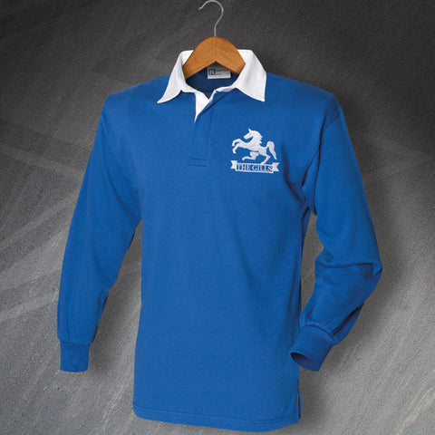 Gillingham Football Shirt Embroidered Long Sleeve The Gills