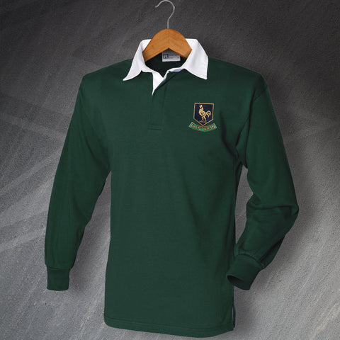 Retro Glentoran Long Sleeve Football Shirt with Embroidered Badge