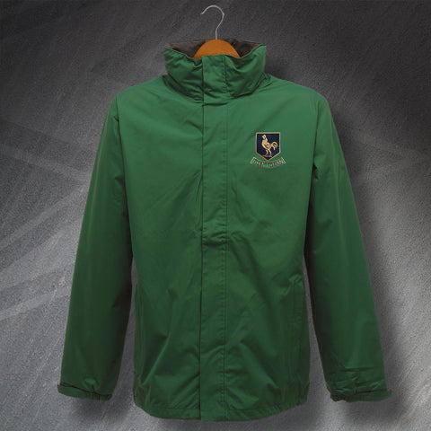 Glentoran Football Jacket Embroidered Waterproof 1970s