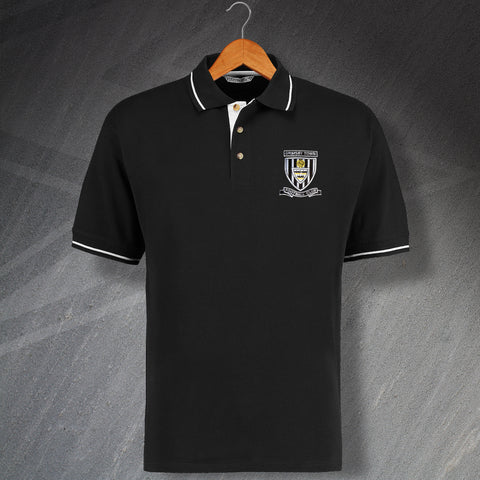 Grimsby Football Polo Shirt Embroidered Contrast 1960s