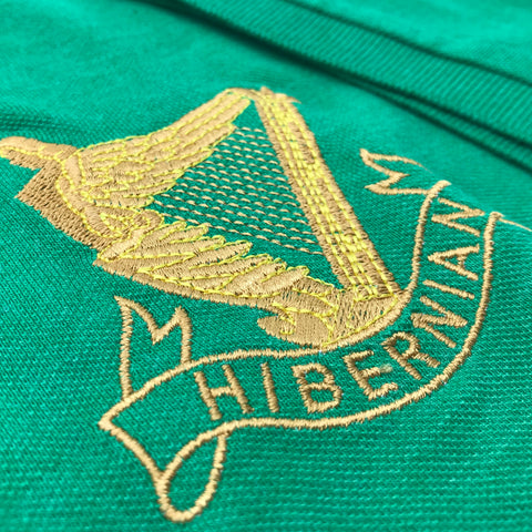 Retro Hibernian Football Polo Shirt