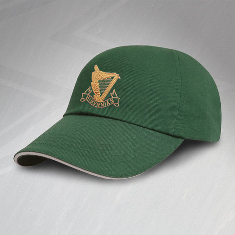 Retro Hibs Baseball Cap with Embroidered 1900s Badge