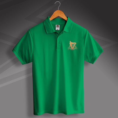 Retro Hibs Polo Shirt with 1900s Embroidered Badge