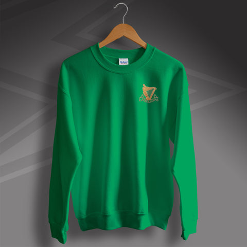 Retro Hibs Sweatshirt with 1900s Embroidered Badge