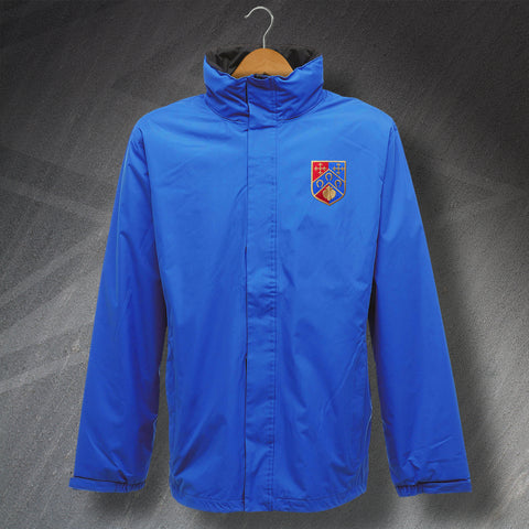 Retro Hoops Waterproof Jacket with Embroidered 1953 Badge