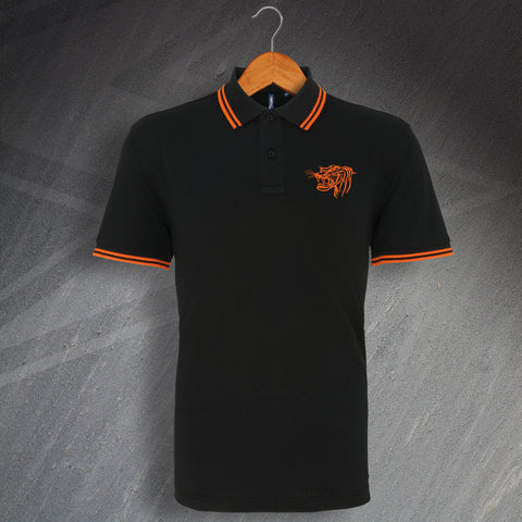 Hull Football Polo Shirt Embroidered Tipped 1957