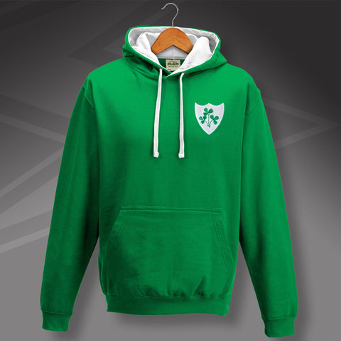 Ireland Football Hoodie Embroidered Contrast 1978
