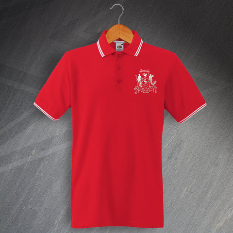Liverpool Football Polo Shirt Embroidered Tipped