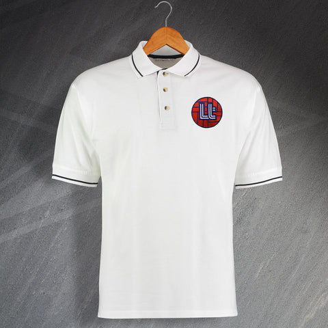 Luton Football Polo Shirt Embroidered Contrast 1974
