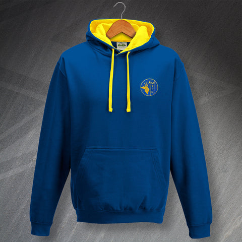 Retro Mansfield Contrast Hoodie with Embroidered Badge