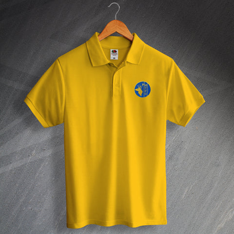 Retro Mansfield Polo Shirt with Embroidered 1984 Badge