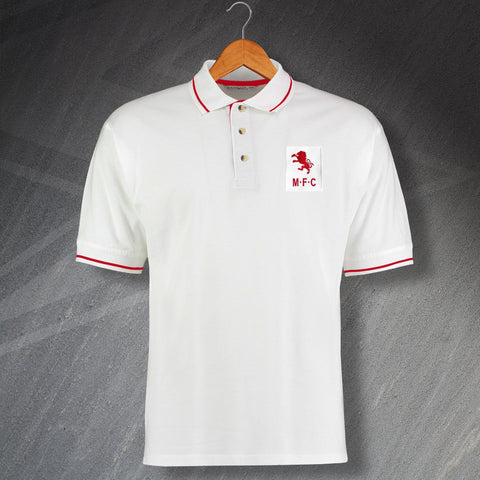 Retro Middlesbrough Embroidered Contrast Polo Shirt