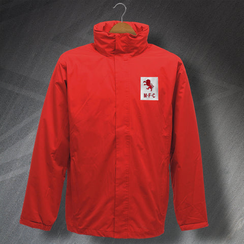 Retro Middlesbrough Waterproof Jacket with Embroidered Badge