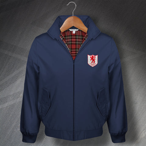 Retro Millwall Classic Harrington Jacket with Embroidered The Lions 1936 Badge