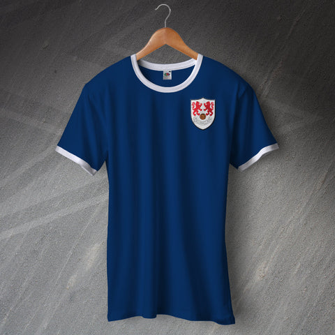 Millwall Football Shirt Embroidered Ringer 1956